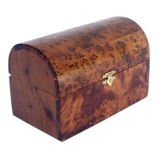 Moroccan Decorative Juniper Burl Wood Box For Sale