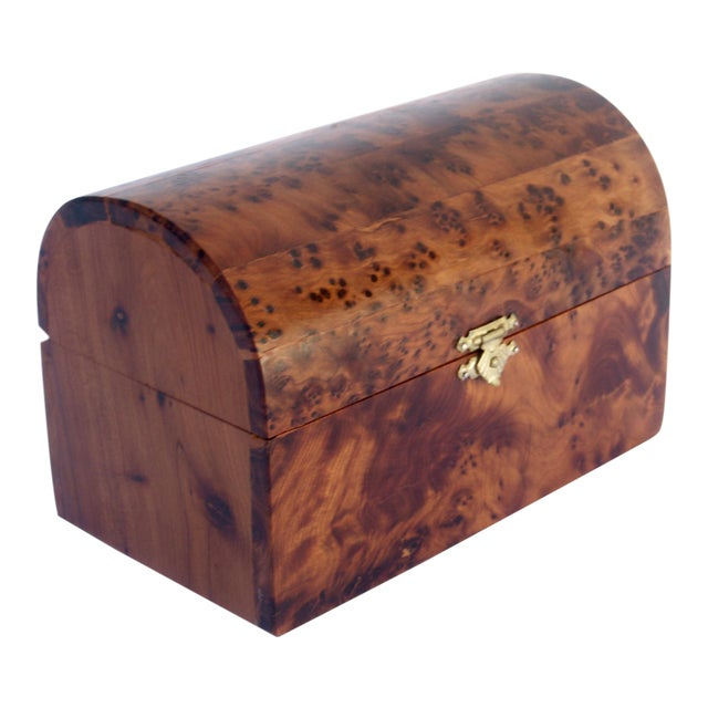 Moroccan Decorative Juniper Burl Wood Box For Sale