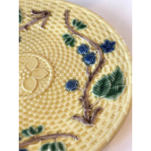 Tiffany & Co. Majolica Blackberries Tea Set With 12 Dessert Plates - Vintage For Sale In New York - Image 6 of 12
