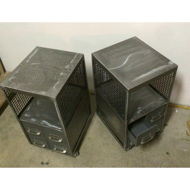 Repurposed Metal Industrial Tables - Pair - Image 6 of 7