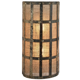 Recycled Zinc and Burlap Wall Sconce