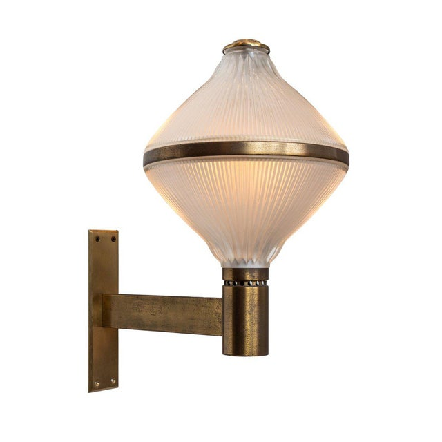 Large 1960s Studio B.B.P.R Brass Sconce For Sale - Image 13 of 13