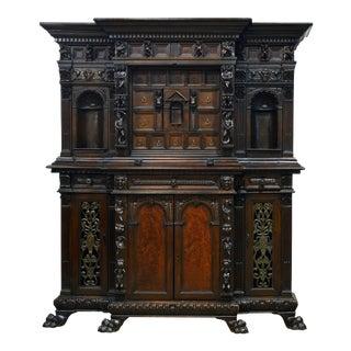 19th Century Italian Renaissance Style Carved Walnut Cabinet