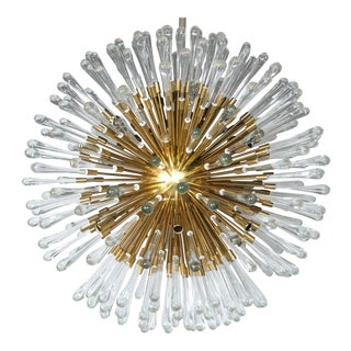 Austrian Sputnik 20 Light Pendant Fixtures (4 Available) For Sale