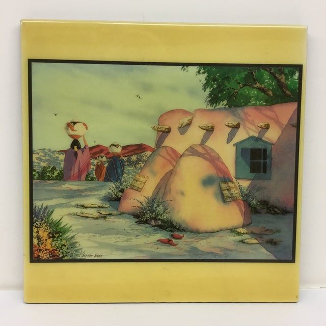 Doreman Burns Watercolor Hand Painted Tile - Image 2 of 9
