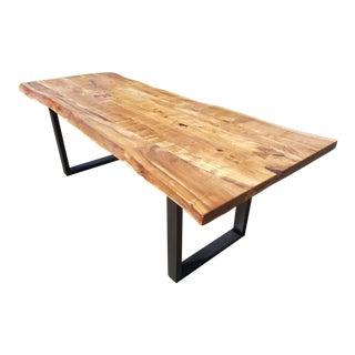 Custom Sized Live Edge Acacia Wood Table For Sale