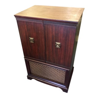 1940s Traditional Truetone Radio & Phone Cabinet For Sale