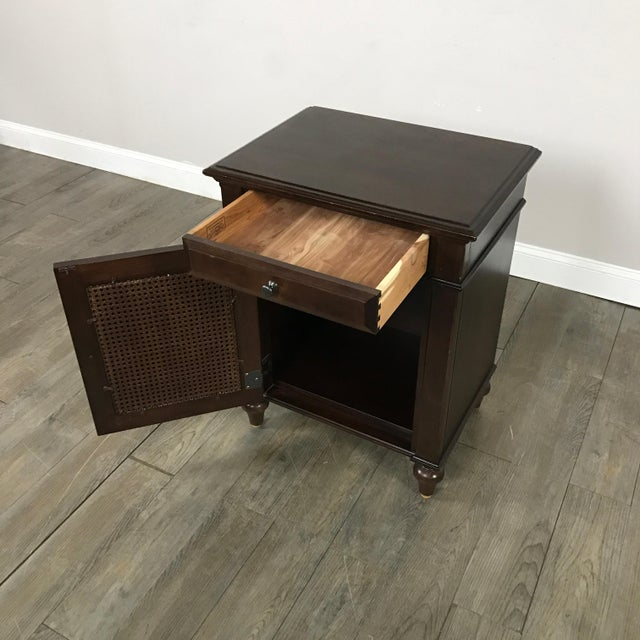 Cane-Lined Traditional Nightstand - Image 4 of 11