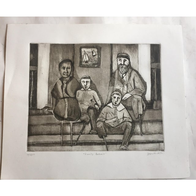"""Vintage """"Family Portrait"""" Original Lithograph - Image 6 of 6"""
