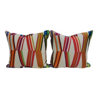 Multicolored Print Pillows