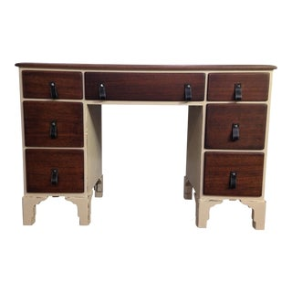 1980s Traditional Refinished Partner Desk For Sale