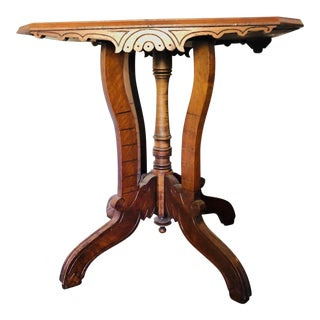 20th Century Victorian Walnut Side Table For Sale