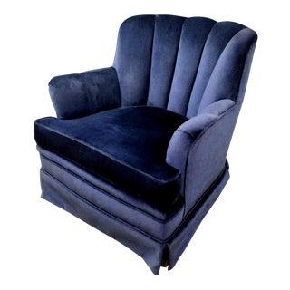 Mid-Century Hollywood Regency Velvet Lounge Chair Rocker For Sale
