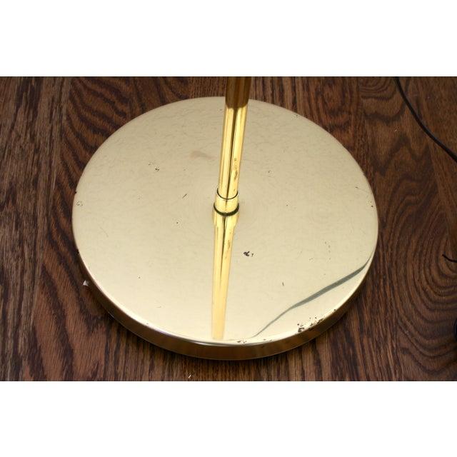 Brass 1970s Industrial Brass Pharmacy Floor Lamp For Sale - Image 7 of 10
