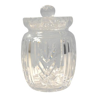 Ceska Crystal Biscuit Barrel With Lid