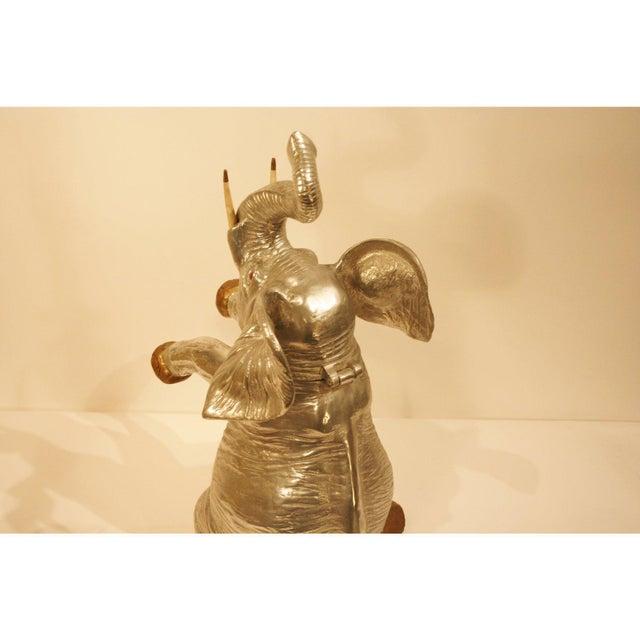 Aluminum Vintage Arthur Court Elephant Champagne Cooler / Ice Bucket For Sale - Image 7 of 9