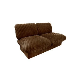 "1970s Harvey Probber ""Pillow Puff"" Armless Loveseat Sofa For Sale"