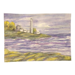 """Nautical Mixed Media Seascape """"We'll Always Have Maine"""" by Nancy Smith For Sale"""