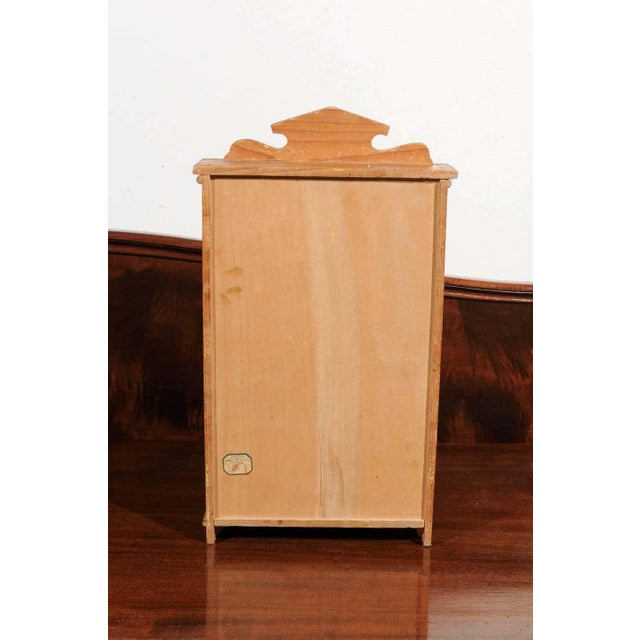 Tan Antique French Miniature Pine Armoire For Sale - Image 8 of 10