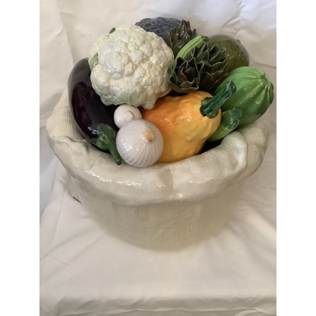 Vintage Italian Bertinazzo Ceramic Bowl of Vegetables For Sale - Image 13 of 13