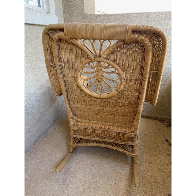 Wicker Ralph Lauren Wicker Rattan Rocking Chairs - Pair For Sale - Image 7 of 10