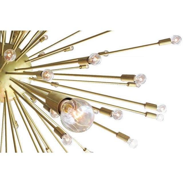 Mid-Century Style Brass Sputnik Chandelier For Sale - Image 4 of 9