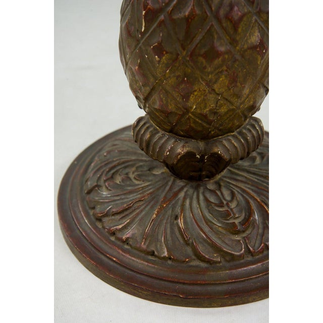 Italian 20th C. White Round Marble Top Accent Table For Sale - Image 9 of 10