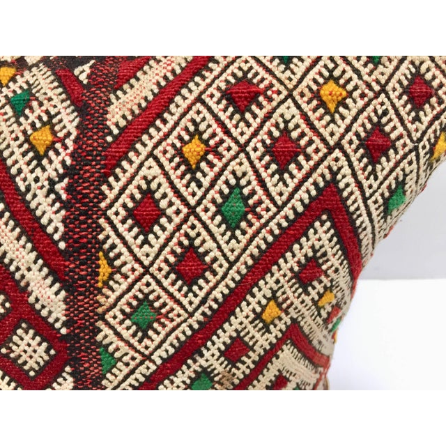 Moroccan Berber Pillow With Tribal African Designs For Sale In Los Angeles - Image 6 of 10