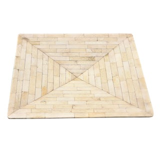 Square Tray With Bone Mosaic For Sale
