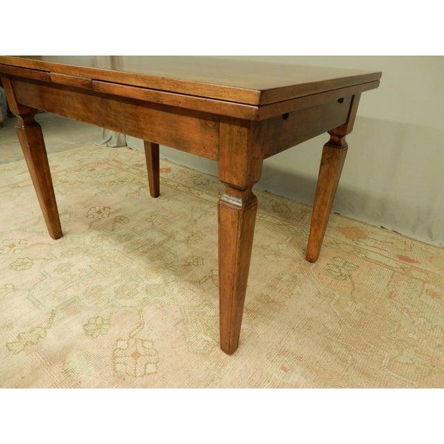 Italian Walnut Farm Table For Sale - Image 4 of 6