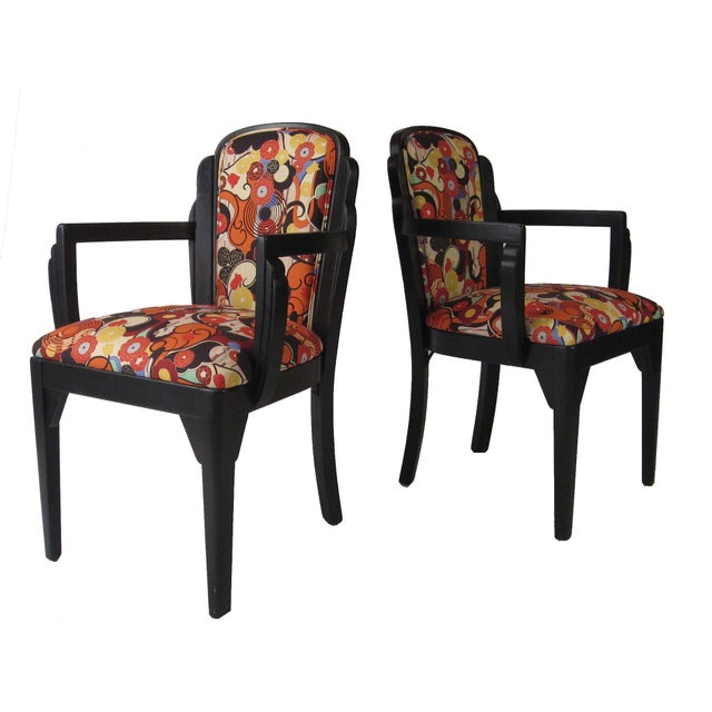 Art Deco Arm Chairs - A Pair - Image 4 of 6