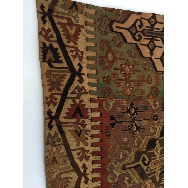 Wall Hanging Mounted Antique Anatolian Turkish Kilim Rugs 70 X 37