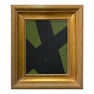 Ron Giusti Mini Abstract Forest Black Acrylic Painting, Framed For Sale
