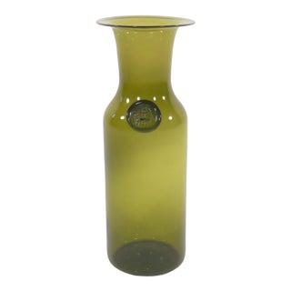 Jacob Bang for Kastrup Art Glass Vase For Sale