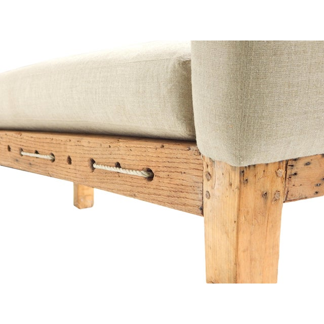 White Primitive Workman's Daybed / Chaise For Sale - Image 8 of 9