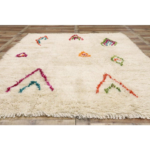 Textile Contemporary Berber Moroccan Azilal Rug - 06'08 X 08'00 For Sale - Image 7 of 10