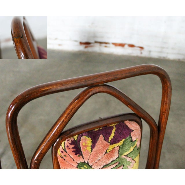 Antique Gebruder Thonet Bentwood Chairs - Set of 4 For Sale - Image 10 of 11
