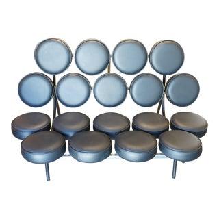 Herman Miller Nelson Marshmallow Sofa in Black Leather For Sale