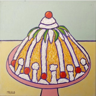 "Original Pop Art ""Pineapple Cake"" Mixed Media Painting on Canvas by Tom Melillo For Sale"