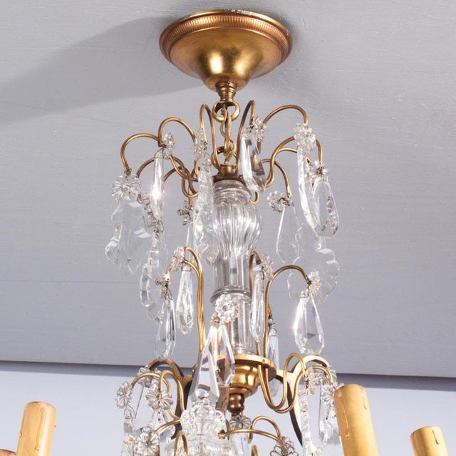 French 19th Century French Napoleon III Crystal Chandelier For Sale - Image 3 of 13