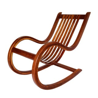 1970s Modern Bentwood Studio Crafted Rocking Chair For Sale
