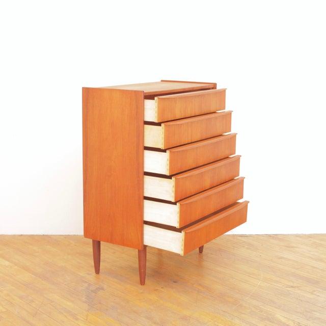 Vintage Danish Teak Highboy Dresser For Sale - Image 4 of 12