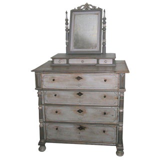 Antique Vanity Dresser in Gustavian Style For Sale