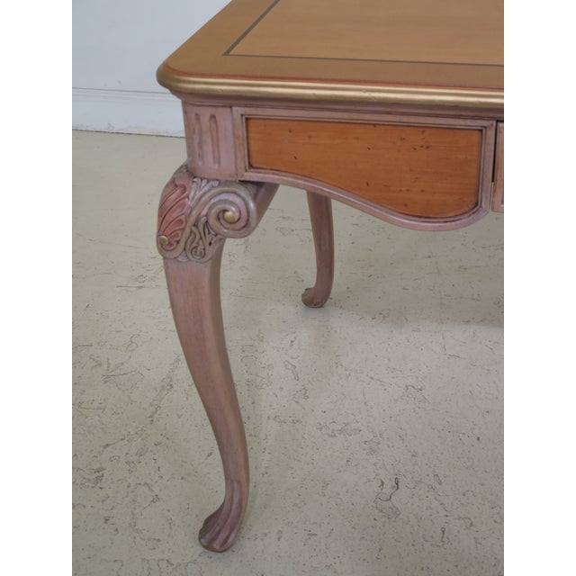 1990s Vintage Italian Style Paint Decorated Desk & Matching Chair For Sale In Philadelphia - Image 6 of 13