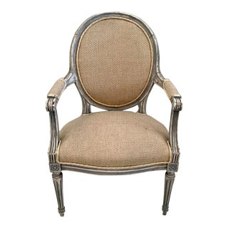 19th Century French Louis XVI Fauteuil For Sale