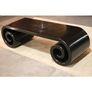 19th Century Chinese Black Lacquer Scroll Table Preview