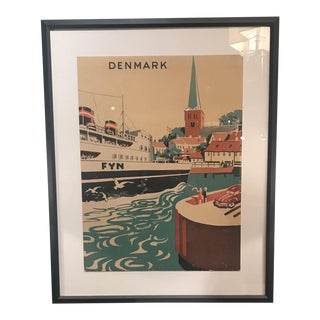 Mid Century Modern Danish Poster For Sale