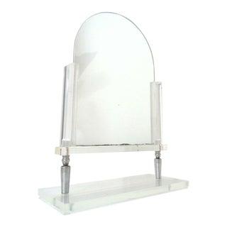 Mid Century Modern Lucite Vanity Mirror For Sale