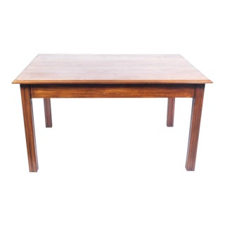 Scandinavian Beech Dining Table Featuring Deco Reeding on the Legs For Sale