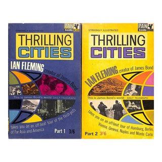1960s Thrilling Cities Part 1 & 2 Books - Pair For Sale